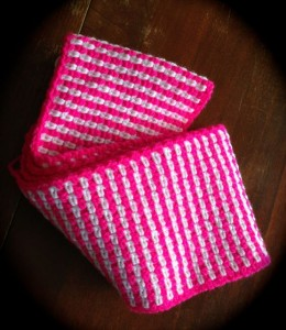 Unfinished Pink for the Cure scarf